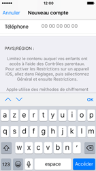 Apple iPhone SE - iOS 10 - Applications - Créer un compte - Étape 22