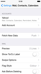 Apple iPhone 5 iOS 8 - E-mail - Manual configuration (yahoo) - Step 10