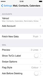 Apple iPhone 5c iOS 8 - E-mail - Manual configuration (yahoo) - Step 10