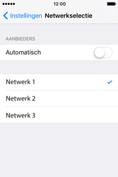 Apple iPhone 4 S iOS 9 - Netwerk - Handmatig netwerk selecteren - Stap 10