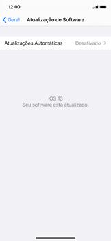 Apple iPhone X - iOS 13 - Funções básicas - Como atualizar o software do seu aparelho - Etapa 6