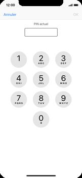 Apple iPhone X - Sécuriser votre mobile - Personnaliser le code PIN de votre carte SIM - Étape 6