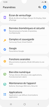 Samsung Galaxy A50 - Appareil - configurer Localiser mon appareil - Étape 4