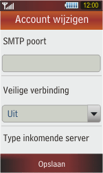 Samsung S5230 Star - E-mail - Handmatig instellen - Stap 10