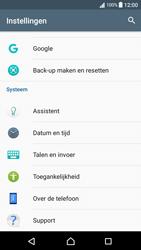 Sony Xperia XA - Android Nougat - Instellingen aanpassen - Fabrieksinstellingen terugzetten - Stap 4