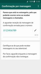 Samsung Galaxy S6 - Aplicações - Como configurar o WhatsApp -  12