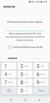 Samsung Galaxy A8 (2018) - Segurança - Como ativar o código de bloqueio do ecrã -  7
