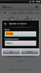 Sony Ericsson Xperia Arc S - Internet - navigation sur Internet - Étape 5