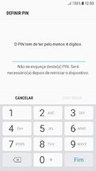 Samsung Galaxy A3 (2016) - Android Nougat - Segurança - Como ativar o código de bloqueio do ecrã -  7