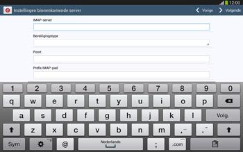 Samsung P5220 Galaxy Tab 3 10-1 LTE - E-mail - e-mail instellen: IMAP (aanbevolen) - Stap 9
