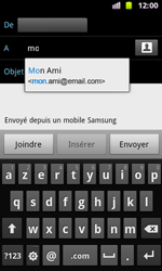 Samsung I8160 Galaxy Ace II - E-mail - Envoi d