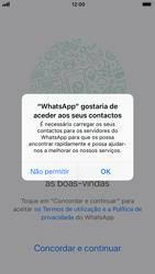 Apple iPhone 6s - iOS 11 - Aplicações - Como configurar o WhatsApp -  5