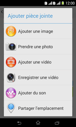 Sony Xpéria E1 Dual - Contact, Appels, SMS/MMS - Envoyer un MMS - Étape 15