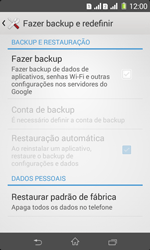 Sony D2105 Xperia E1 Dual - Funções básicas - Como restaurar as configurações originais do seu aparelho - Etapa 7