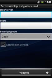 Sony Xperia Mini Pro - E-mail - Handmatig instellen - Stap 8