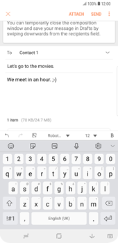 Samsung Galaxy S9 Plus - Email - Sending an email message - Step 18