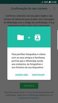 Samsung Galaxy S7 Edge - Android Oreo - Aplicações - Como configurar o WhatsApp -  7