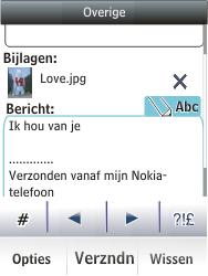 Nokia Asha 203 - E-mail - Hoe te versturen - Stap 17
