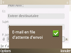 Nokia E72 - E-mail - Envoi d