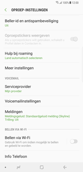 Samsung Galaxy Note 8 - Android Oreo - Bellen - bellen via wifi (VoWifi) - Stap 6