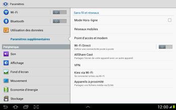 Samsung N8000 Galaxy Note 10-1 - Internet - activer ou désactiver - Étape 5