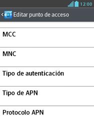LG Optimus L3 II - Mensajería - Configurar el equipo para mensajes multimedia - Paso 13
