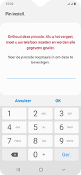 Samsung Galaxy A20e - Beveiliging en privacy - automatische schermblokkering instellen - Stap 10