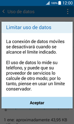 Samsung Galaxy Core Prime - Internet - Ver uso de datos - Paso 9