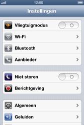 Apple iPhone 4S met iOS 6 (Model A1387) - Bluetooth - Aanzetten - Stap 2