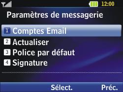 LG C320 InTouch Lady - E-mail - Configuration manuelle - Étape 12