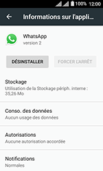 Alcatel U3 - Applications - Supprimer une application - Étape 6