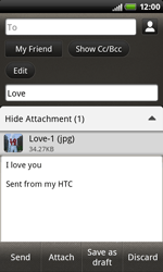 HTC S510b Rhyme - E-mail - Sending emails - Step 13