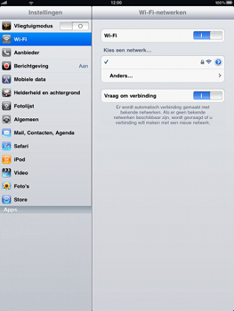 Apple iPad - WiFi - Handmatig instellen - Stap 7