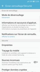 Samsung Galaxy S7 Edge - Sécuriser votre mobile - Activer le code de verrouillage - Étape 5