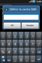 Samsung S5830 Galaxy Ace - SMS - configuration manuelle - Étape 5