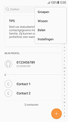Samsung Galaxy A3 (2016) - Android Nougat - Contacten en data - Contacten kopiëren van toestel naar SIM - Stap 5