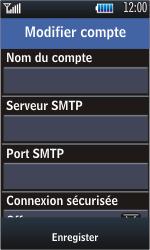 Samsung S5620 Monte - E-mail - Configuration manuelle - Étape 8