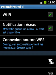 Samsung S5300 Galaxy Pocket - Wifi - configuration manuelle - Étape 6