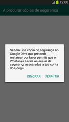 Samsung Galaxy S3 - Aplicações - Como configurar o WhatsApp -  9