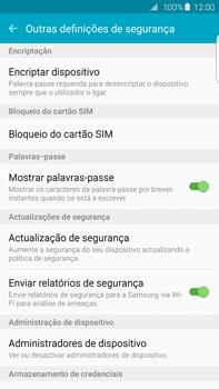 Samsung Galaxy S6 Edge + - Segurança - Como ativar o código PIN do cartão de telemóvel -  6