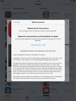 Apple iPad Air met iOS 9 (Model A1475) - Applicaties - Account aanmaken - Stap 9