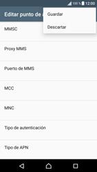 Sony Xperia E5 (F3313) - Mensajería - Configurar el equipo para mensajes multimedia - Paso 15