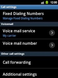Samsung S5360 Galaxy Y - Voicemail - Manual configuration - Step 5