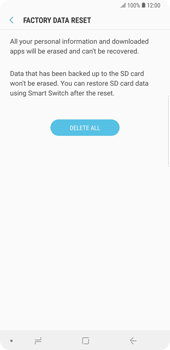 Samsung Galaxy Note9 - Device - Reset to factory settings - Step 9