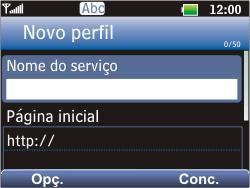 LG C365 - Internet - Como configurar seu celular para navegar através de Vivo Internet - Etapa 20