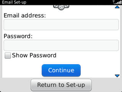 BlackBerry 9320 Curve - E-mail - Manual configuration - Step 8