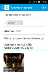 """Alcatel Pixi 3 - 3.5"""" - E-mail - envoyer un e-mail - Étape 16"""