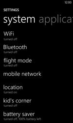 Nokia Lumia 625 - Internet - Enable or disable - Step 4