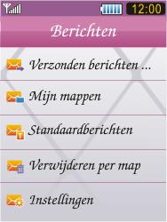 Samsung S7070 Diva - SMS - Handmatig instellen - Stap 4