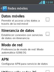 LG Optimus L3 II - Red - Seleccionar el tipo de red - Paso 6